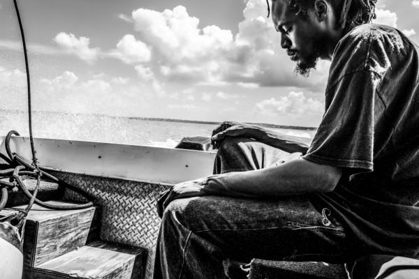 "Mathieu Bitton ""Water taxi thinker"", Eleuthera, Bahamas, 2016"