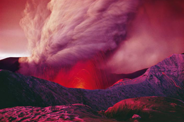"Michael Friedel ""Vulkan Irazu, Lava-Eruption"", Costa Rica, 1964"