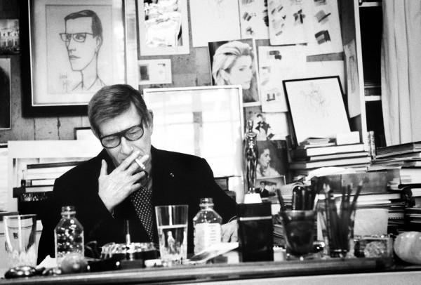 """Emanuele Scorcelletti """"Rive gauche, Yves Saint Laurent in his studio, Paris"""", März 2004"""
