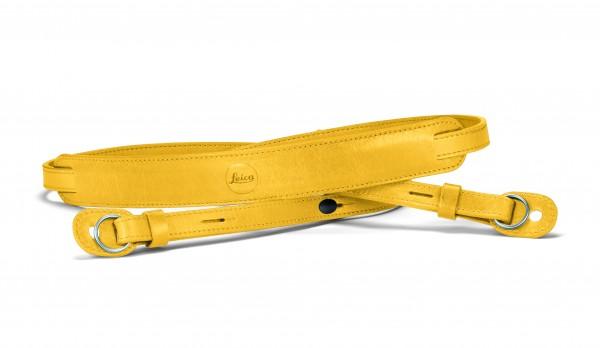 Leica Trageriemen mit Schutzlasche, Leder, gelb