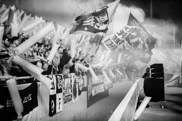 """Holger Sà """"Der 12. Mann in Nikosia, Eintracht Frankfurt vs. Apollon Limassol, Nikosia, 2018"""