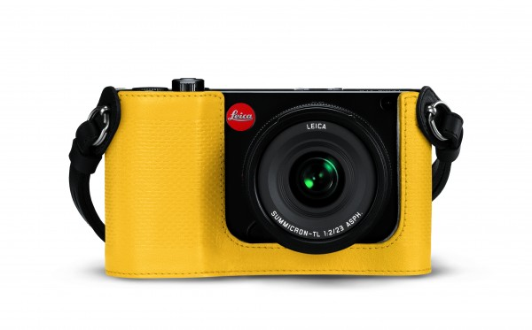 Leica Protector for TL, leather, yellow