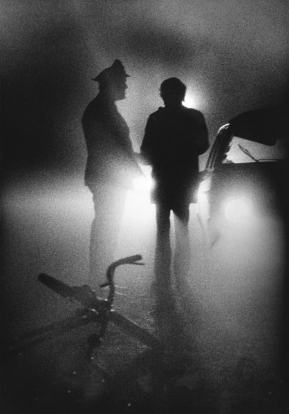 Régis Bossu ''Misty night, collision with a bicycle near the Rhine'', 1970