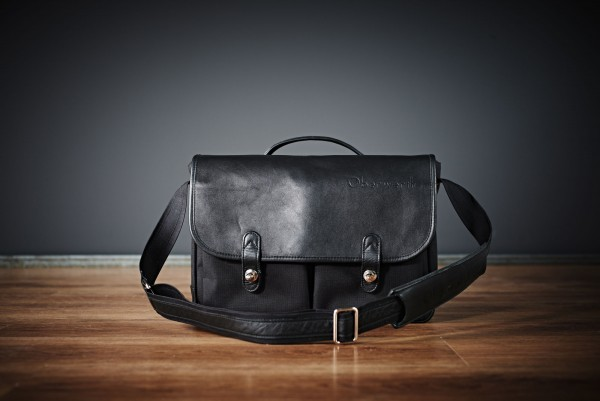 "Camera bag ""München "" made by Oberwerth, Cordura black, black leather"
