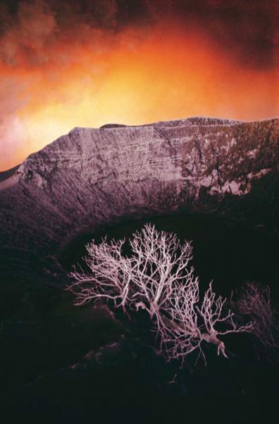 """Michael Friedel """"Vulkan Irazu, Krater"""", Costa Rica, 1964"""