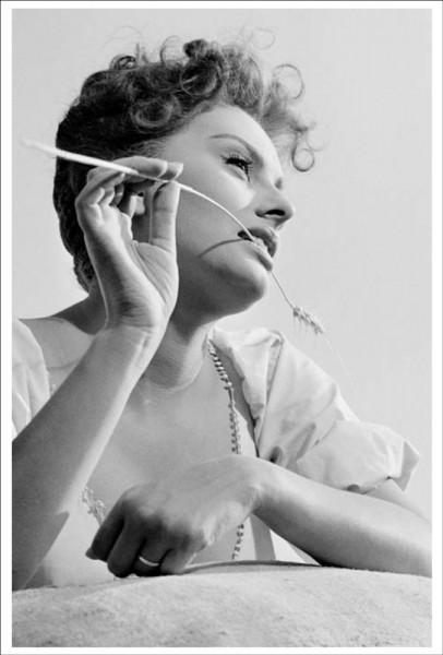 "Postkarte Ernst Leitz Museum ""Michael Friedel, Sophia Loren, Süditalien, 1955"""