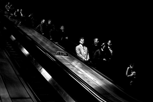 "Alan Schaller ""London Escalator"""