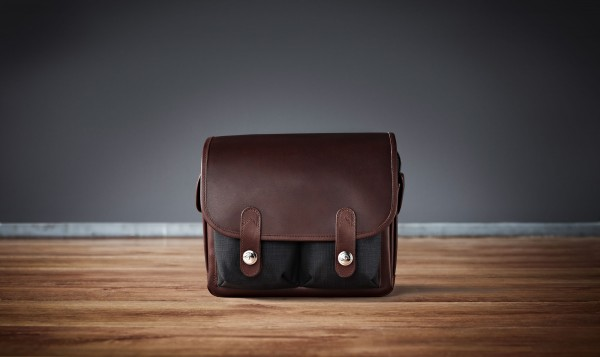 "Camera bag ""Wetzlar"" made by Oberwerth, Cordura black, dark brown leather"