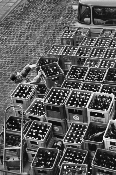 Régis Bossu ''Beer delivery in squares and rectangles'', 1971
