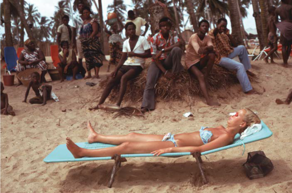 "Michael Friedel ""Sonnenbad, Strandhotel, Togo, 1975"""