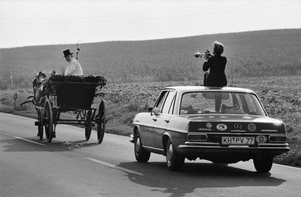 Régis Bossu ''On the way to a wedding party'', Palatinate, Germany, 1980