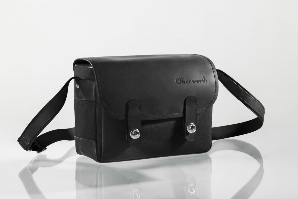 "Camera bag ""Freiburg"" made by Oberwerth, Cordura black, black leather"