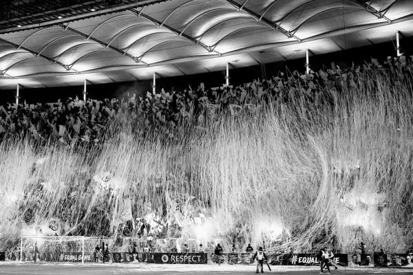 "Holger Sà ""Magic Moment I, Eintracht Frankfurt vs. Olympique Marseille"", Frankfurt, 2018"