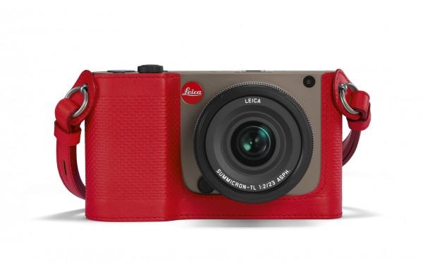 Leica Protektor für TL, Leder, rot