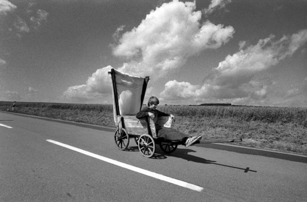 Régis Bossu ''Alternative locomotion; sailing down the road'', 1973