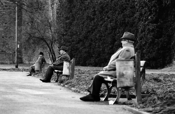 Régis Bossu ''Park near Frankfurt, Silence'', 1974