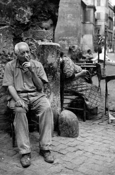 """Michael Friedel """"Trastevere"""", Altstadt Rom, 1953"""