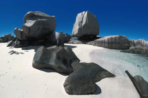 "Michael Friedel ""Granitfelsen, Insel La Digue, Seychellen, 1975"""