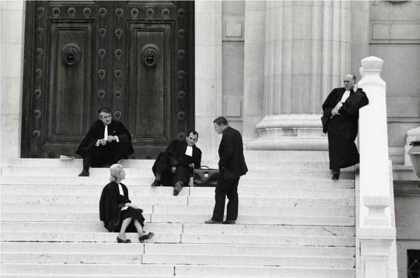 Régis Bossu ''Homage to Honoré Daumier: ''Les Gens de Justice'', Palais de Justice - the Courthouse'', Paris, 1973