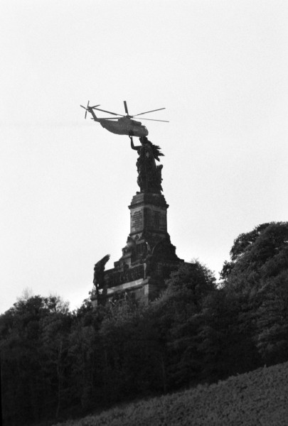 Régis Bossu ''Niederwald Monument'', located above the town of Rüdesheim am Rhein, 1979