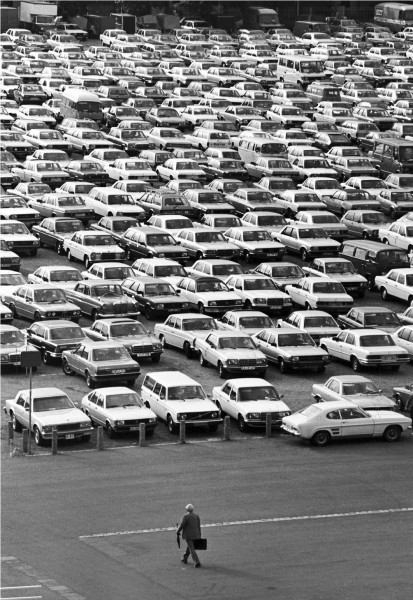 Régis Bossu ''Frankfurt fairground parking lot'', 1961