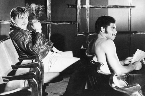 """Michael Friedel """"Rainer Werner Fassbinder und Günther Kaufmann"""", Kino, München, 1966"""