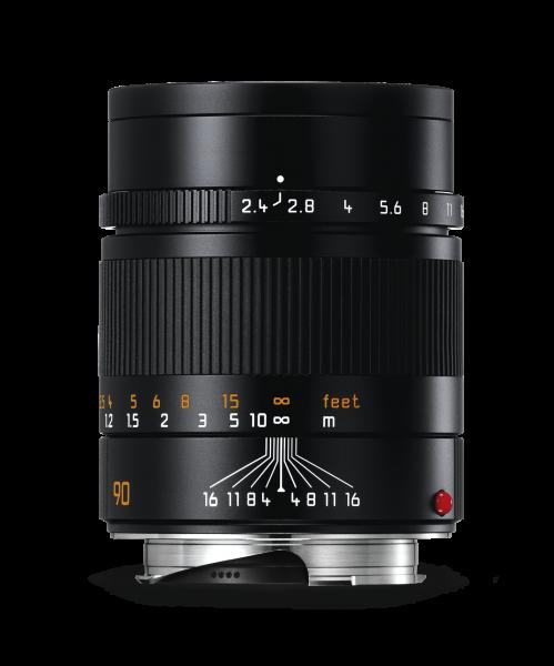 Leica SUMMARIT-M 1:2,4/90 mm, schwarz eloxiert