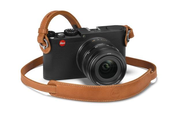 Leica Leder-Tragriemen für M- und X-Kameras mit Schutzlasche, Cognac