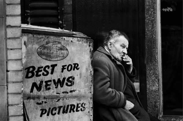 Régis Bossu ''Newspaper selling in London'', 1977