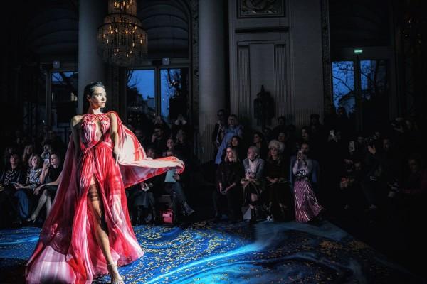 "Holger Sà ""Catwalk Serie II, Red Dress"", Paris, 2019"