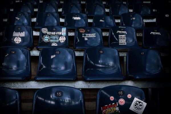 """Holger Sà """"Sticker"""", Commerzbank-Arena, Frankfurt, 2018"""