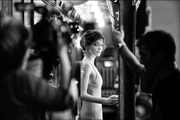 """Emanuele Scorcelletti """"The delicacy, Audrey Tautou"""", On the set Chanel n°5, Istanbul, Mai 2008"""