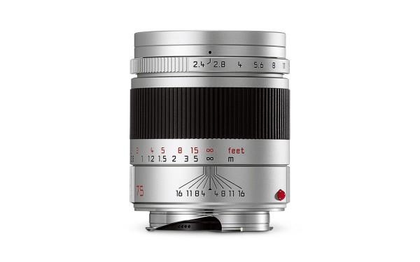 Leica SUMMARIT-M 1:2,4/75 mm Silbern eloxiert