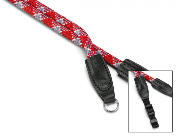 Leica Rope Strap, rot kariert, 100 cm, SO, designed by Cooph