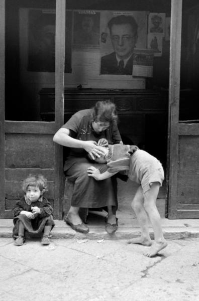 """Michael Friedel """"Kommunistisches Parteibüro, Trastevere, Rom, 1953"""""""