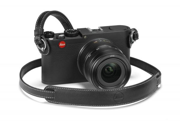 Leica Leder-Tragriemen für M- und X-Kameras mit Schutzlasche, Schwarz
