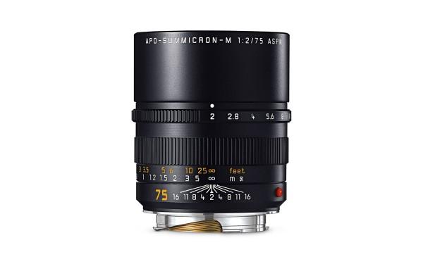 Leica APO-SUMMICRON-M 1:2/75 mm ASPH. Schwarz eloxiert