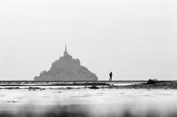 Régis Bossu ''Hunter on the swamp around Mont St.Michel'', 1973