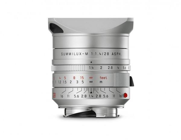 Leica Summilux-M 1:1,4 / 28mm ASPH.,silbern eloxiert