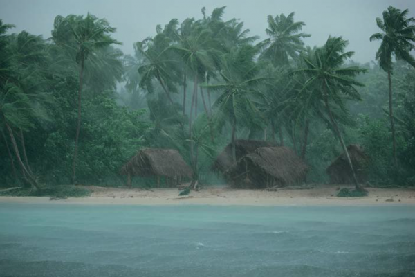 "Michael Friedel ""Regensturm"", Arri-Atoll, Malediven, 1976"
