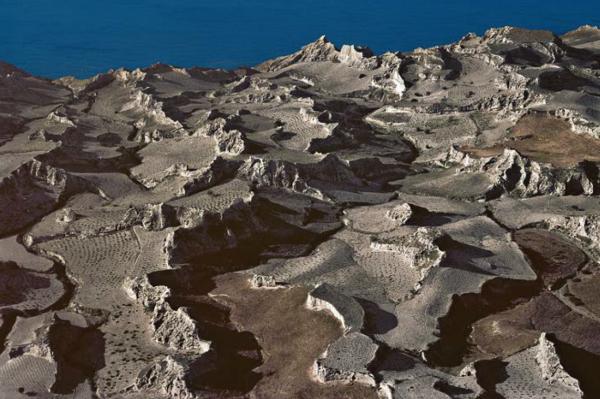 """Michael Friedel """"Weinberge, Vulkan"""", Santorini, Griechenland, 1974"""
