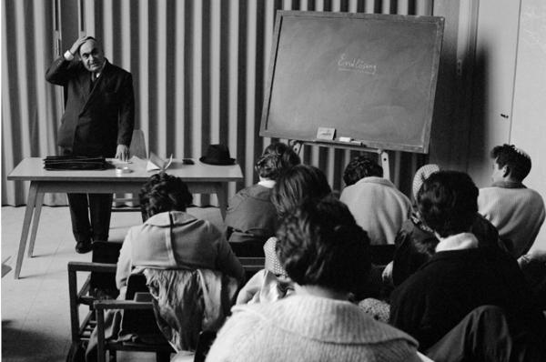 "Michael Friedel ""Vorlesung (Thema Endlösung) an der Universität Jerusalem"", Israel, 1964"