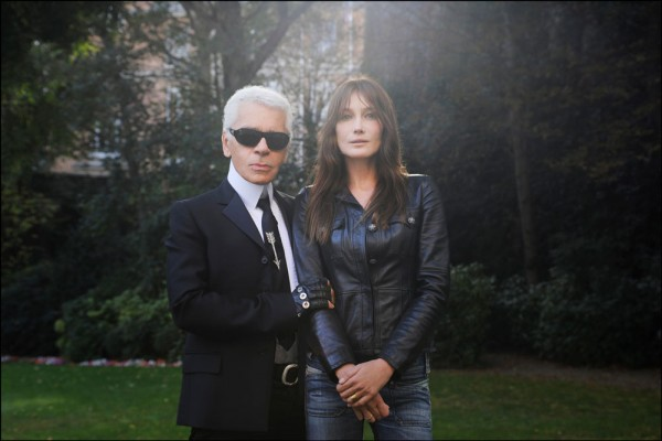 "Emanuele Scorcelletti ""Inseparables, Carla Bruni, Karl Lagerfeld"", Paris, September 2007"
