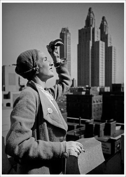 """Postkarte Ernst Leitz Museum """"Dr. Paul Wolff - New York von oben, 1932"""""""