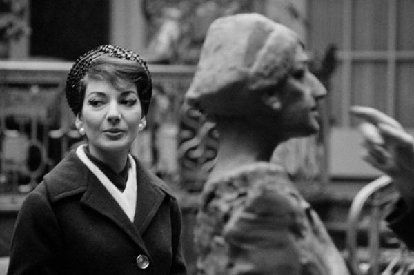 """Michael Friedel """"Maria Callas, Skulptur, Bildhauer Fritz Behn"""", München 1959"""