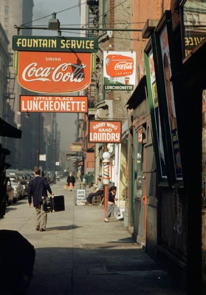 """Werner Bischof """"United States"""", New York City, 1953"""