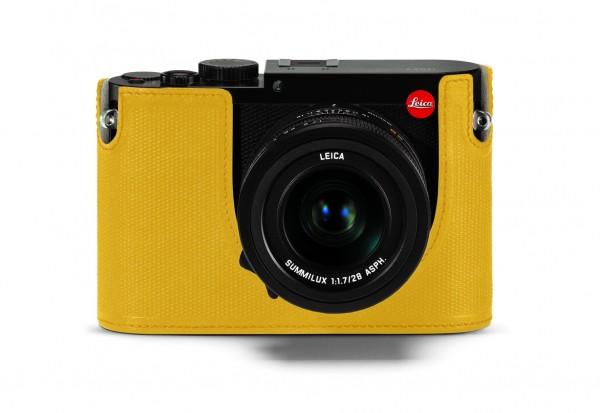 Leica Q Protektor, Leder, gelb