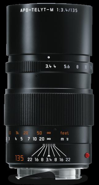 Leica APO-TELYT-M 1:3,4/135mm Schwarz eloxiert