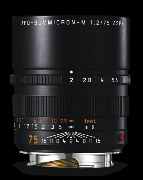 Leica APO-SUMMICRON-M 1:2/75 mm ASPH., schwarz eloxiert