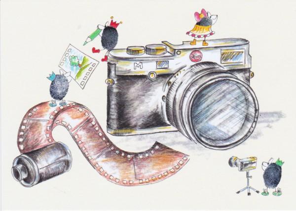 Postkarte Leica M, Kraejen